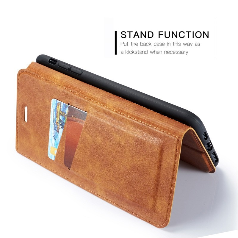 Mobiq - Slim Magnetic Wallet iPhone 11 Pro Max Bruin - 8
