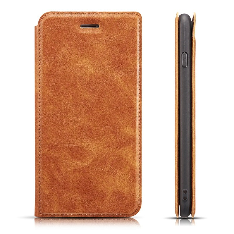 Mobiq - Slim Magnetic Wallet iPhone 11 Pro Max Bruin - 5
