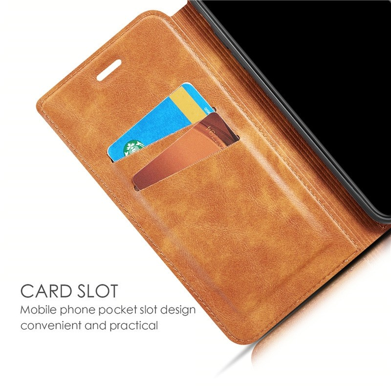 Mobiq - Slim Magnetic Wallet iPhone 11 Pro Max Bruin - 7