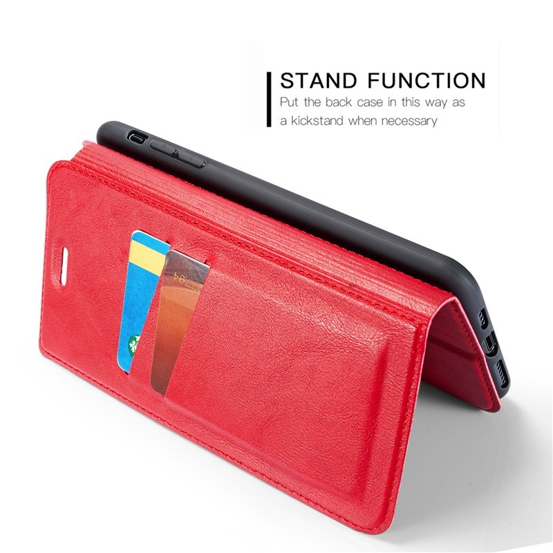 Mobiq - Slim Magnetic Wallet iPhone 11 Pro Max Rood - 8