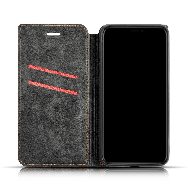 Mobiq - Slim Magnetic Wallet iPhone 11 Pro Max Zwart - 6