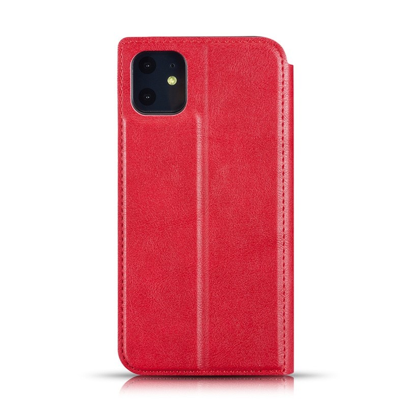Mobiq - Slim Magnetic Wallet iPhone 11 Rood - 2