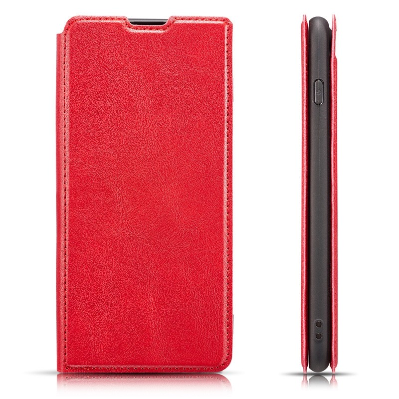 Mobiq - Slim Magnetic Wallet iPhone 11 Rood - 3