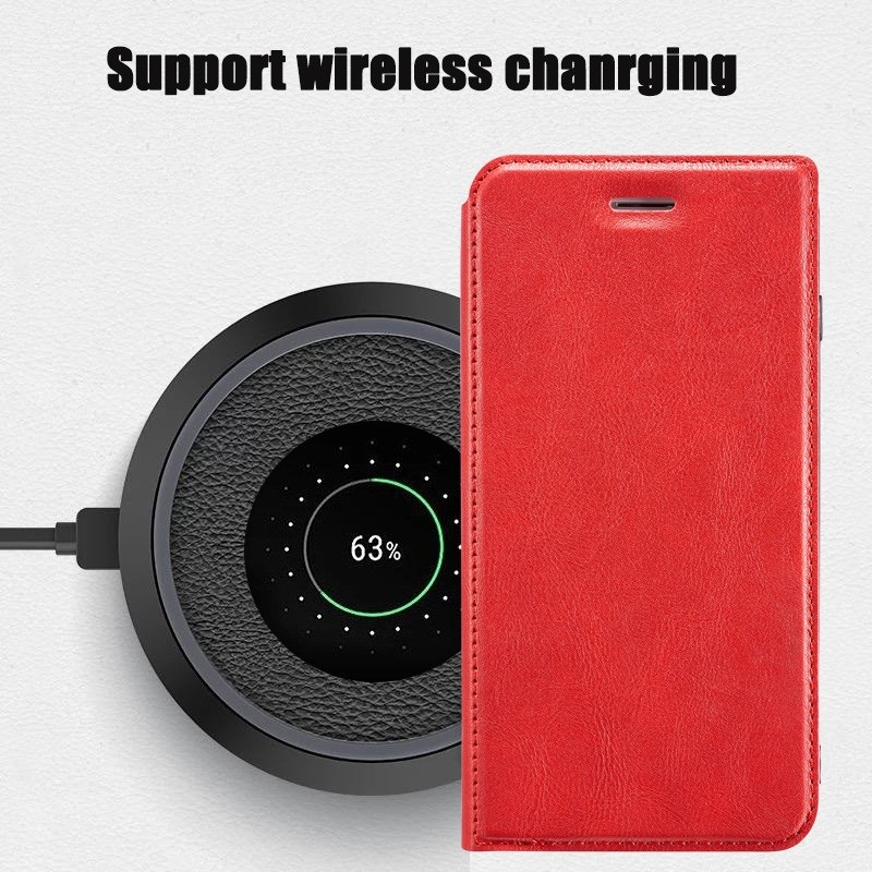 Mobiq - Slim Magnetic Wallet iPhone 11 Rood - 4