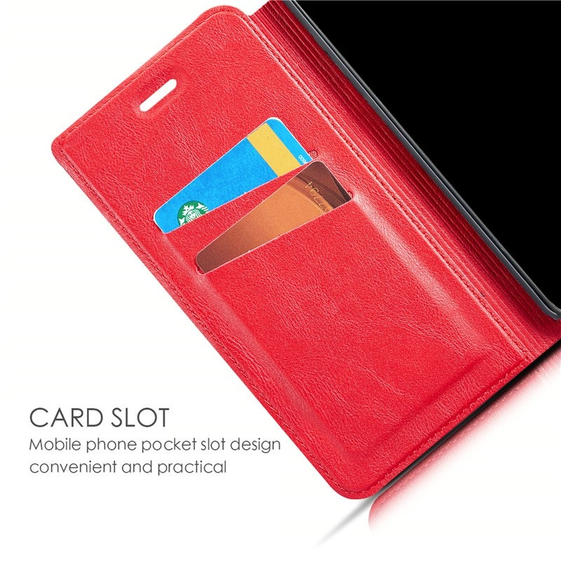 Mobiq - Slim Magnetic Wallet iPhone 11 Rood - 6