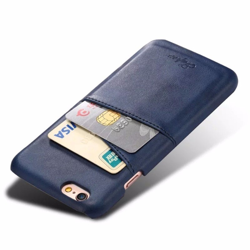 Mobiq Leather Snap On Wallet iPhone 8/7 Blauw - 3