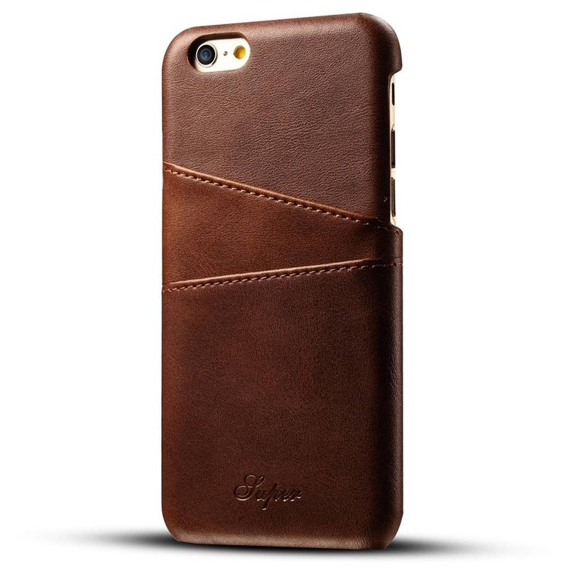 Mobiq Leather Snap On Wallet iPhone SE (2020)/8/7 Bruin - 1