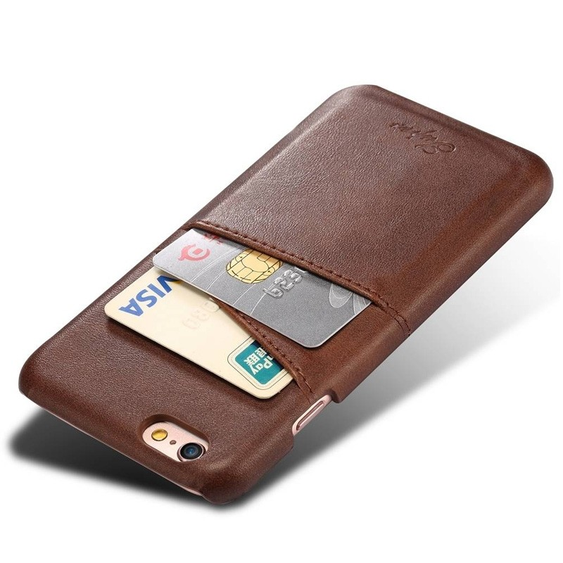 Mobiq Leather Snap On Wallet iPhone SE (2020)/8/7 Bruin - 3