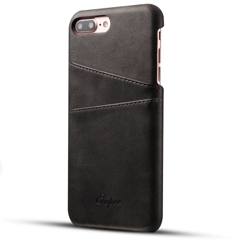 Mobiq Leather Snap On Wallet iPhone 8 Plus/7 Plus Zwart - 1
