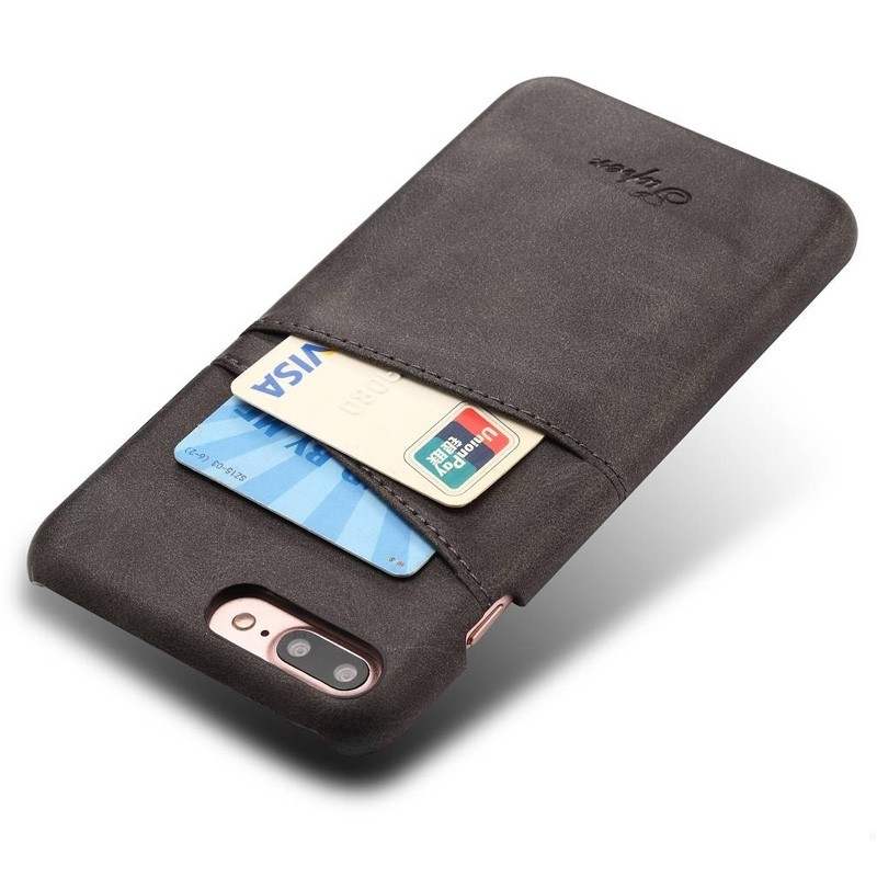 Mobiq Leather Snap On Wallet iPhone 8 Plus/7 Plus Zwart - 3