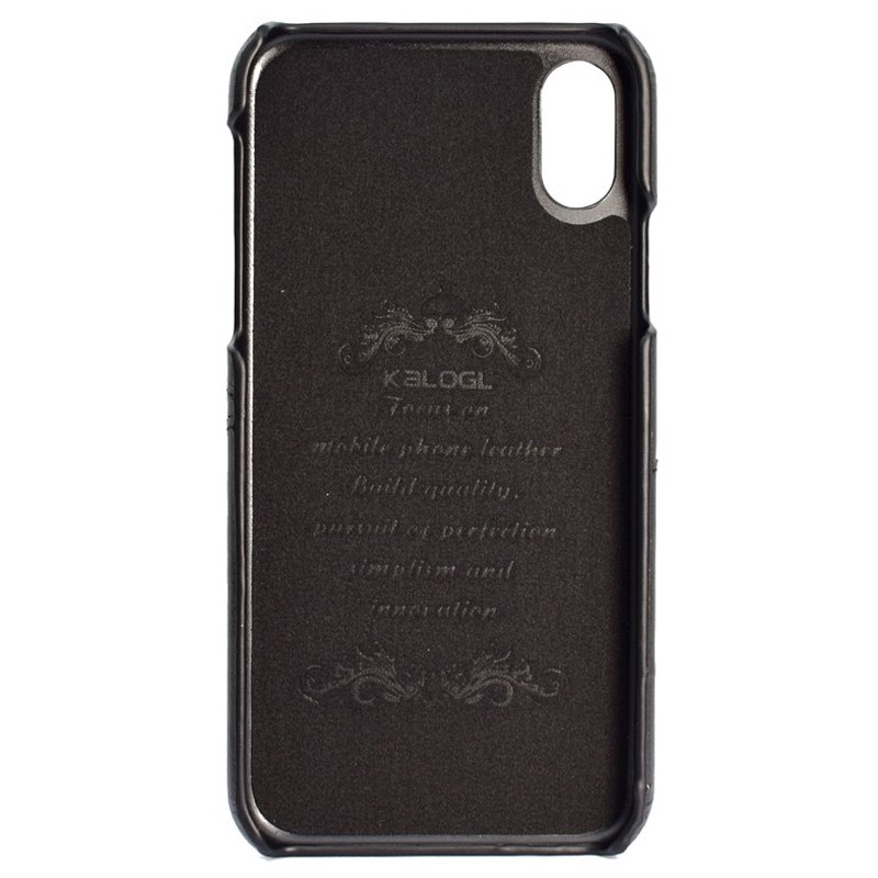 Mobiq Leather Snap On Wallet Case iPhone X/Xs Zwart 02