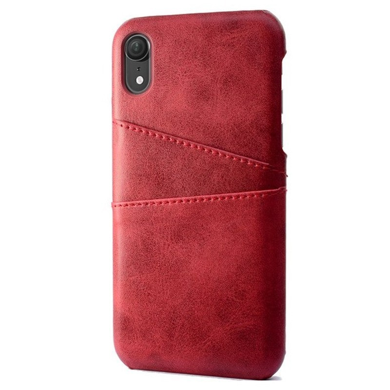 Mobiq Leather Snap On Wallet iPhone XS Max Rood 01
