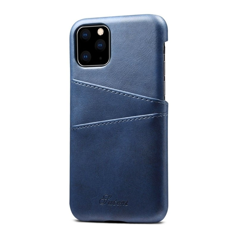 Mobiq Leather Snap On Wallet iPhone 11 Blauw - 2