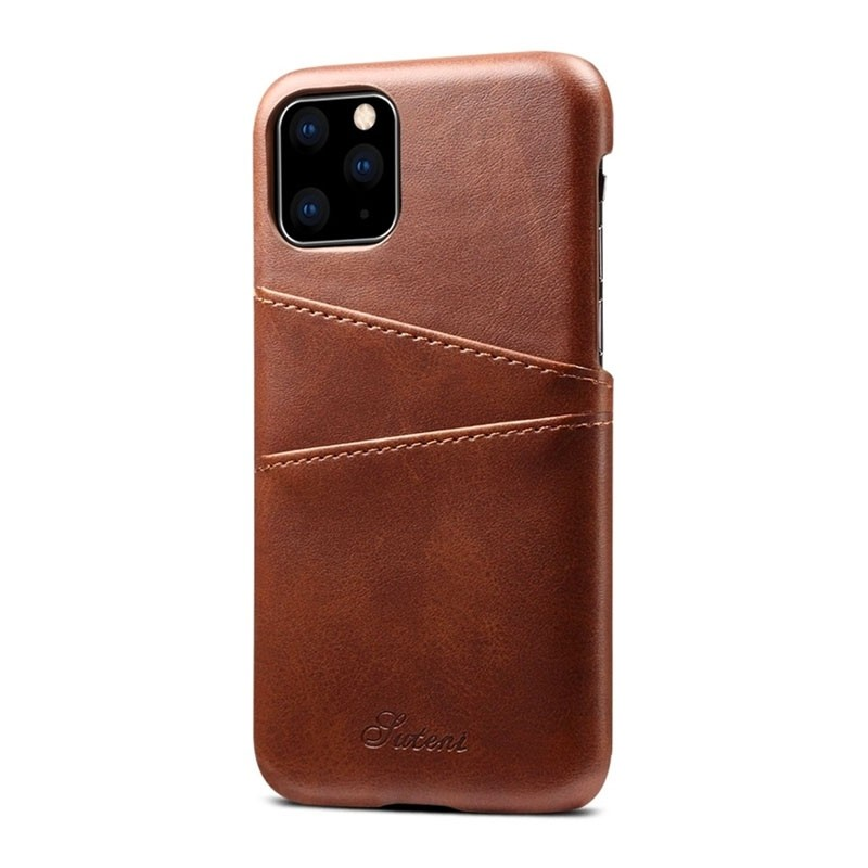 Mobiq Leather Snap On Wallet iPhone 11 Donkerbruin - 2