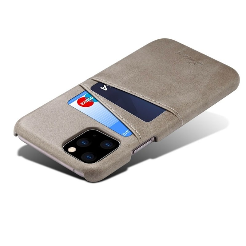Mobiq Leather Snap On Wallet iPhone 11 Grijs - 3