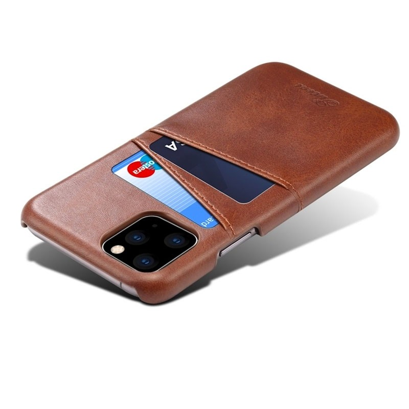 Mobiq Leather Snap On Wallet iPhone 11 Pro Donkerbruin - 4
