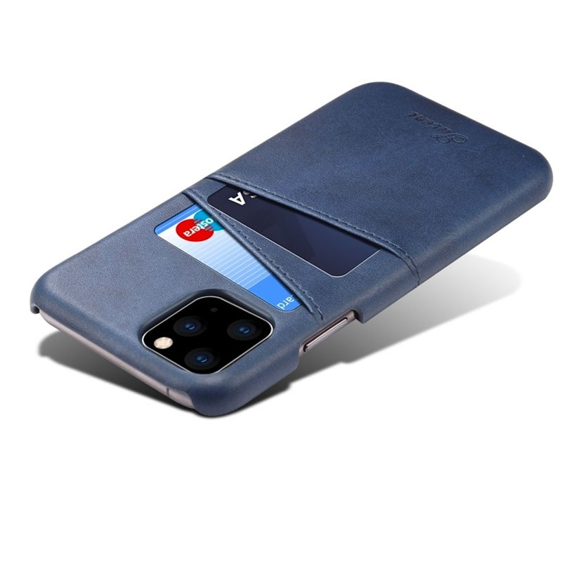 Mobiq Leather Snap On Wallet iPhone 11 Pro Max Blauw - 4
