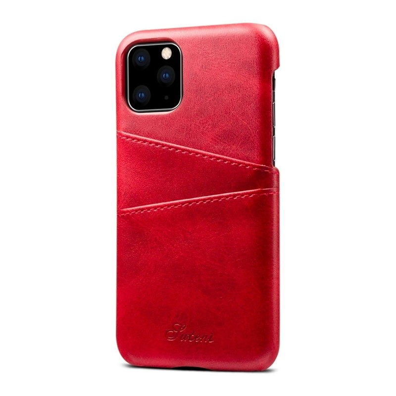 Mobiq Leather Snap On Wallet iPhone 11 Rood - 5