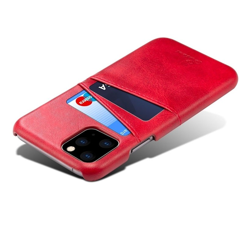 Mobiq Leather Snap On Wallet iPhone 11 Rood - 3