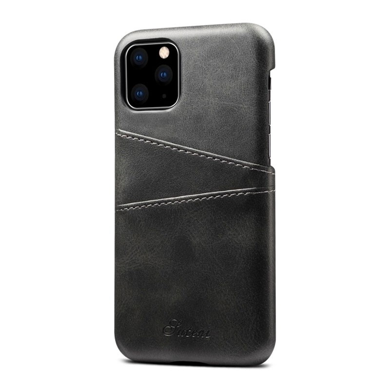 Mobiq Leather Snap On Wallet iPhone 11 Zwart - 2