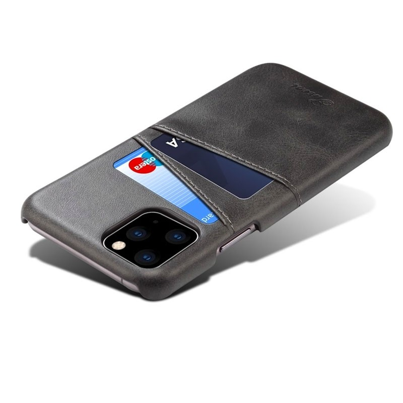 Mobiq Leather Snap On Wallet iPhone 11 Zwart - 4