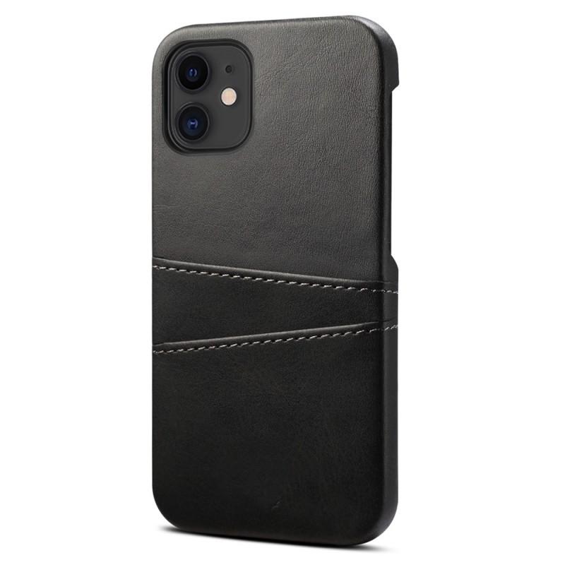 Mobiq Leather Snap On Wallet iPhone 12 Mini Zwart - 1