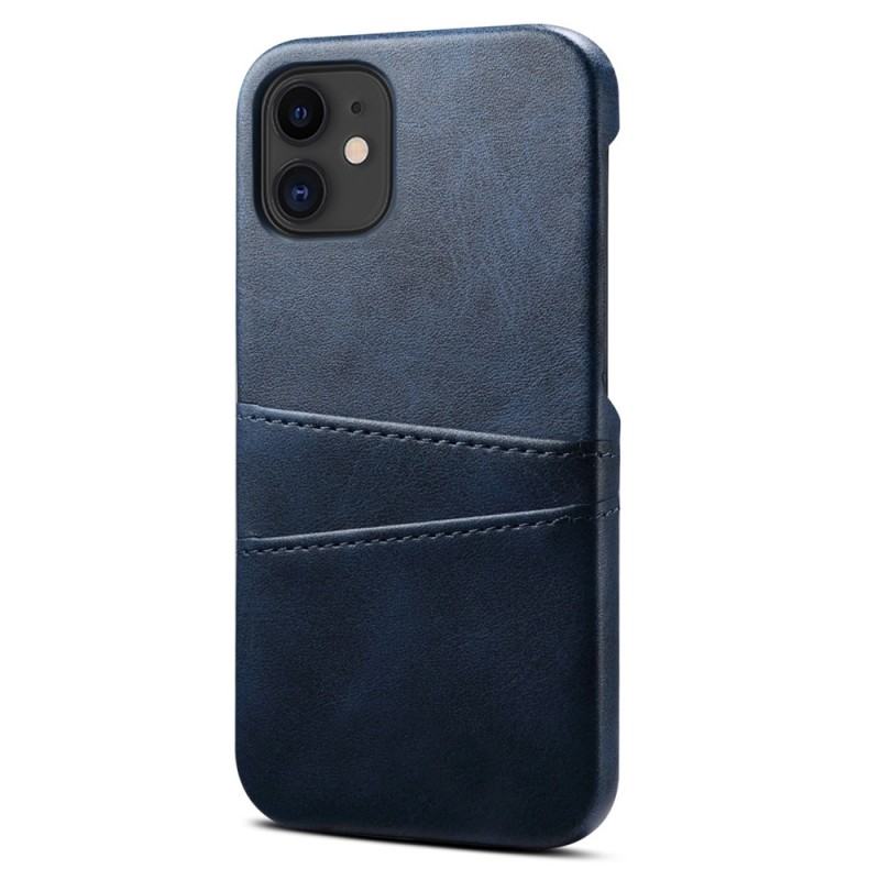 Mobiq Leather Snap On Wallet iPhone 13 Mini Blauw - 1