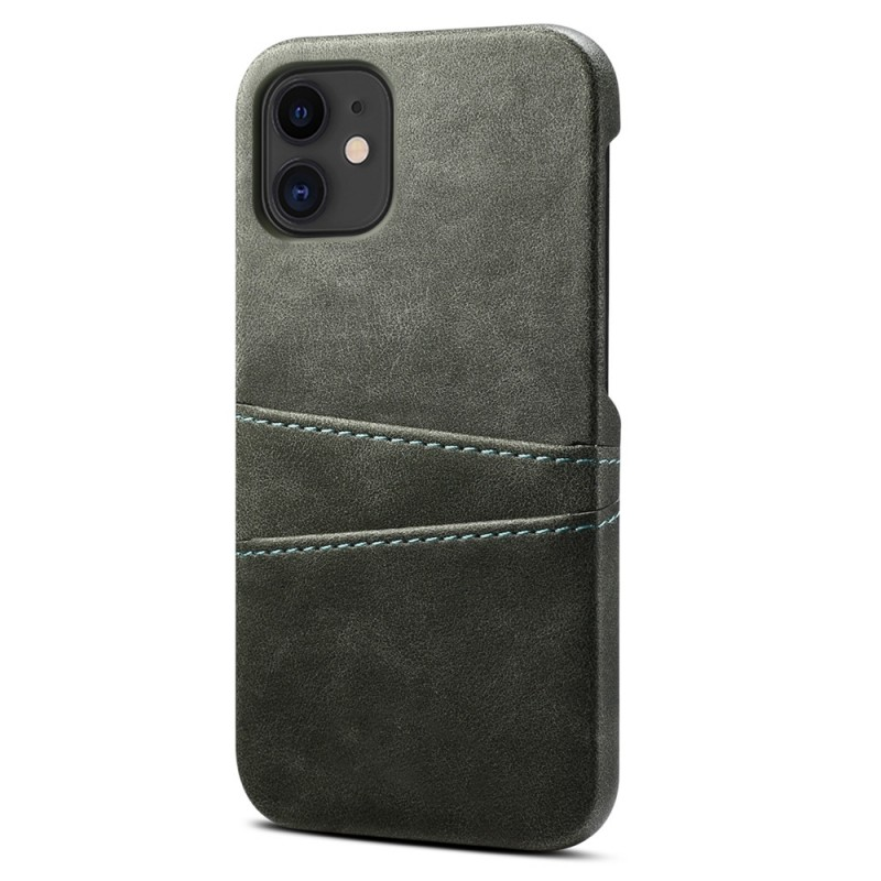 Mobiq Leather Snap On Wallet iPhone 13 Pro Grijs - 1