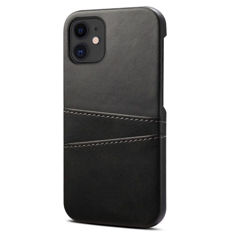 Mobiq Leather Snap On Wallet iPhone 13 Zwart - 1