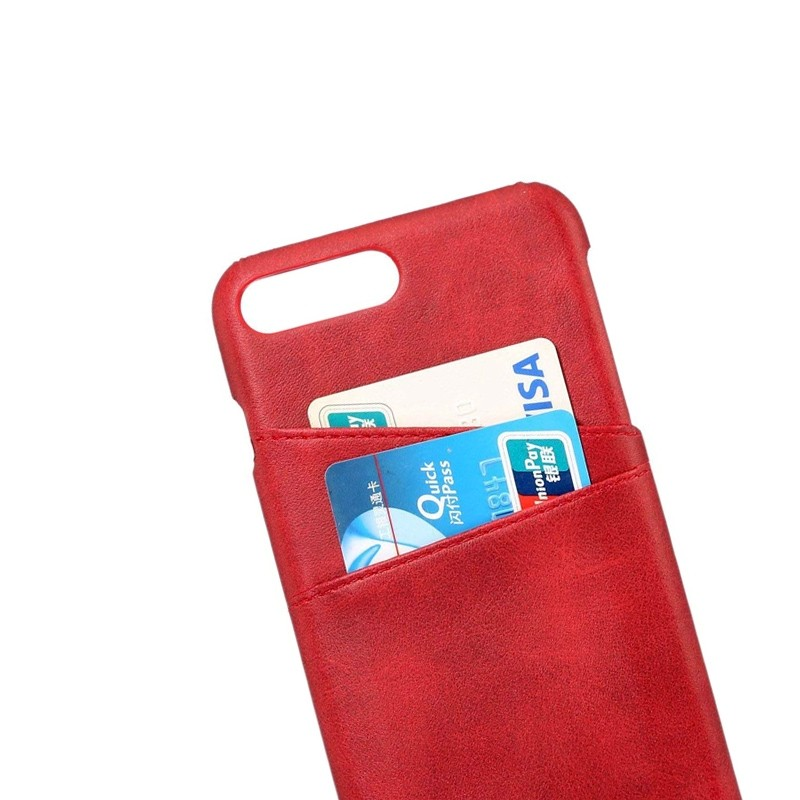 Mobiq Leather Snap On Wallet Case iPhone 8 Plus/7 Plus Rood 03