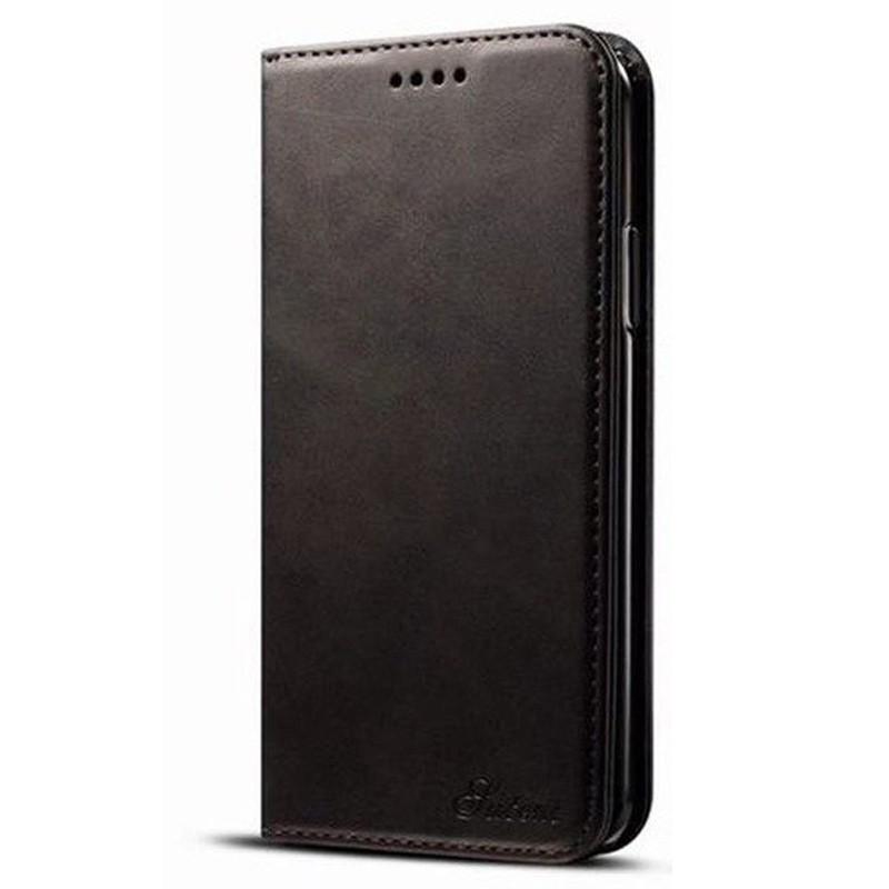 Mobiq Lederen iPhone X/Xs Portemonnee Hoes Black 01