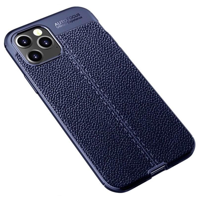 Mobiq Leather Look TPU Hoesje iPhone 12 6.1 Blauw - 2