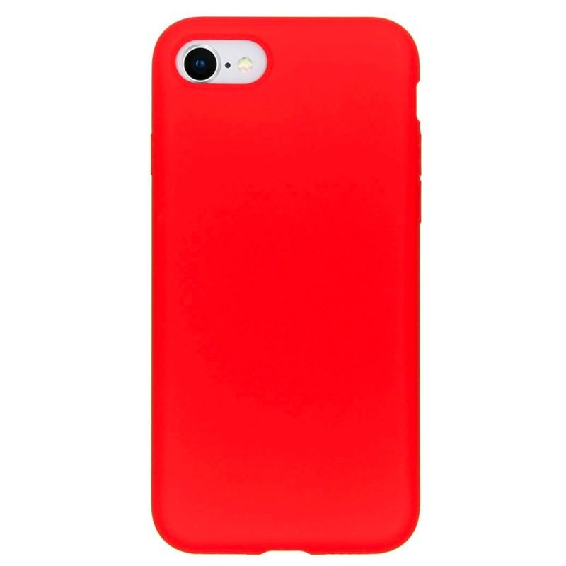 Mobiq Liquid Siliconen Hoesje iPhone SE (2020)/8/7 Rood - 1