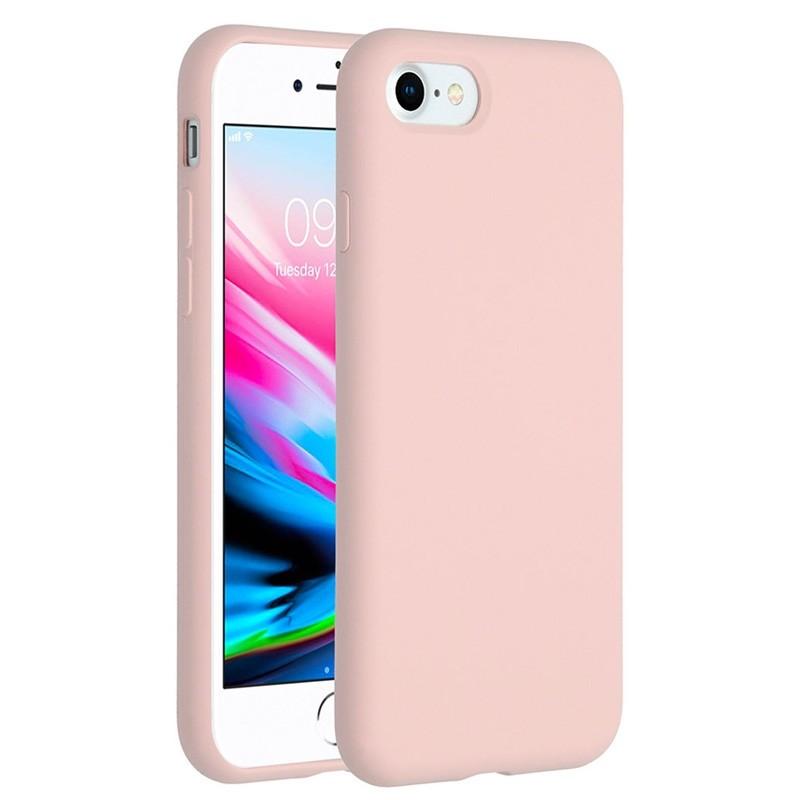 Mobiq Liquid Siliconen Hoesje iPhone SE (2020)/8/7 Roze - 1