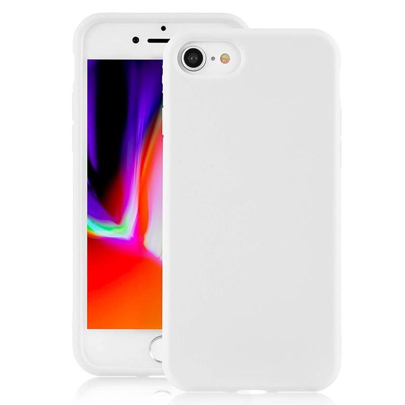 Mobiq Liquid Siliconen Hoesje iPhone SE (2020)/8/7 Wit - 1