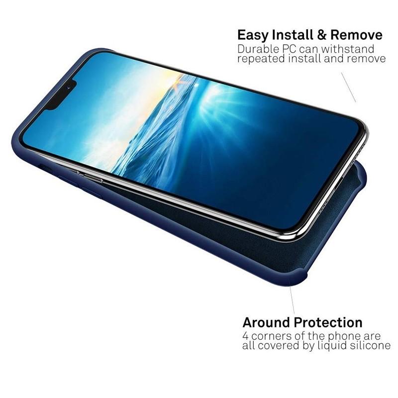 Mobiq - Liquid Siliconen Hoesje iPhone 11 Blauw - 3