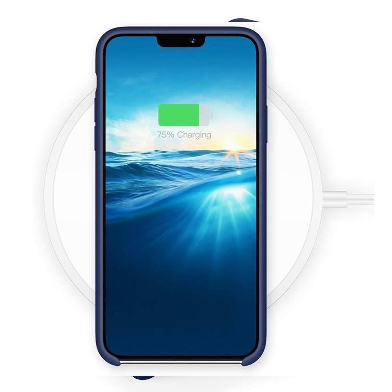 Mobiq - Liquid Siliconen Hoesje iPhone 11 Blauw - 5