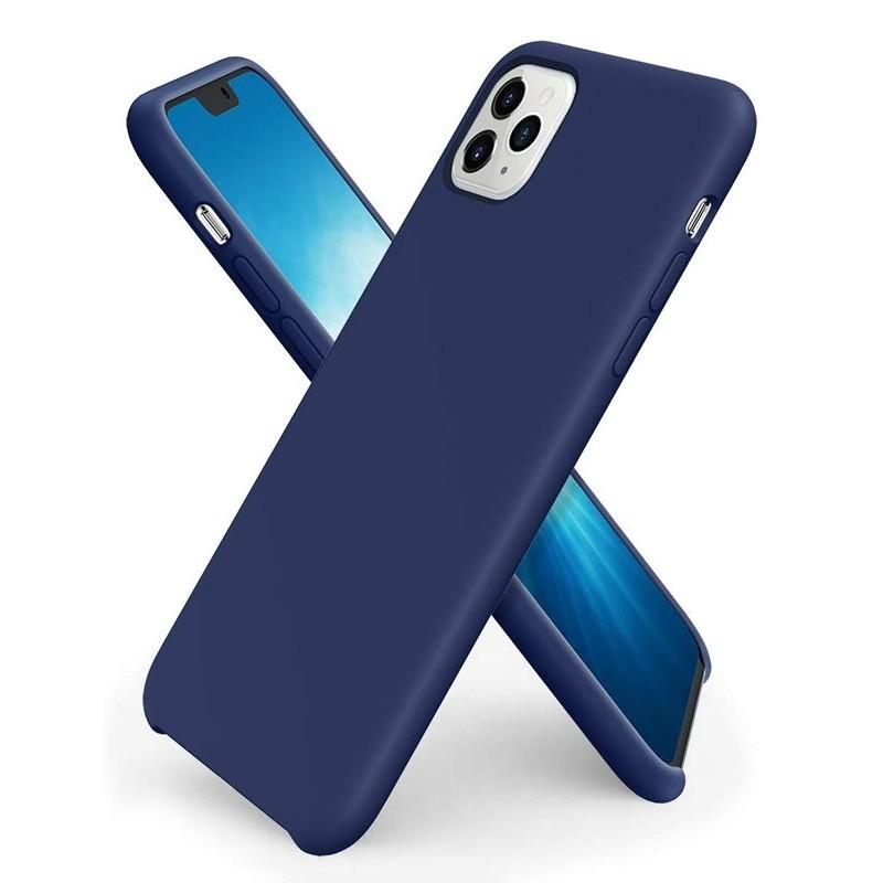 Mobiq - Liquid Siliconen Hoesje iPhone 11 Pro Blauw - 1