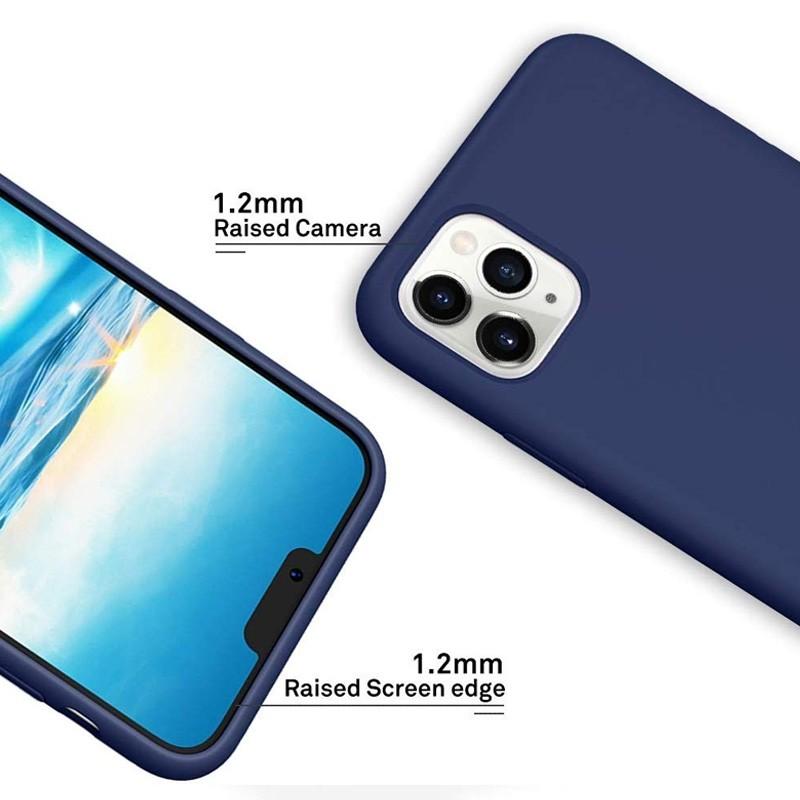 Mobiq - Liquid Siliconen Hoesje iPhone 11 Pro Max Blauw - 5