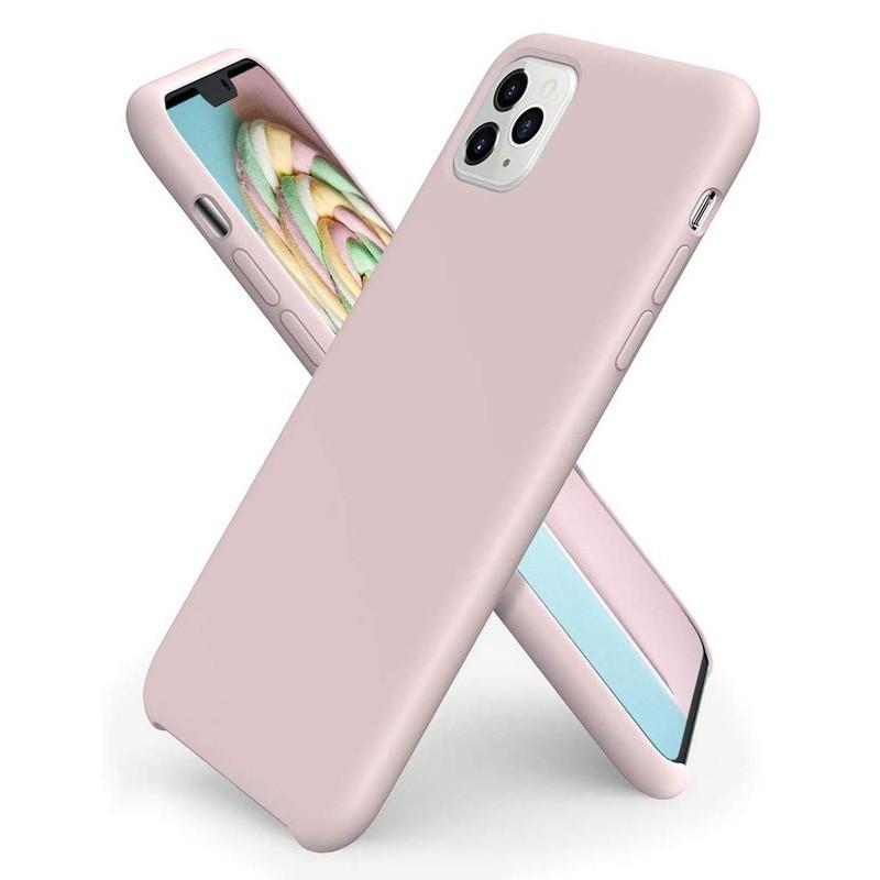 Mobiq - Liquid Siliconen Hoesje iPhone 11 Pro Max Roze - 1