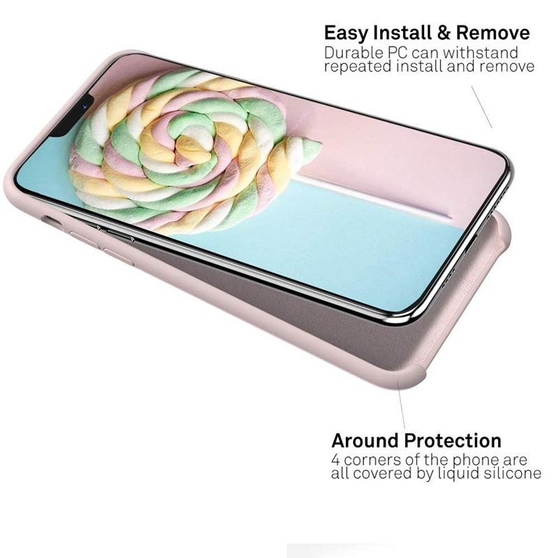 Mobiq - Liquid Siliconen Hoesje iPhone 11 Pro Max Roze - 4