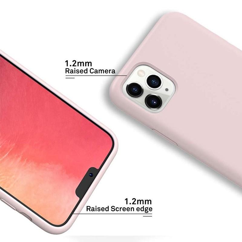 Mobiq - Liquid Siliconen Hoesje iPhone 11 Pro Max Roze - 2
