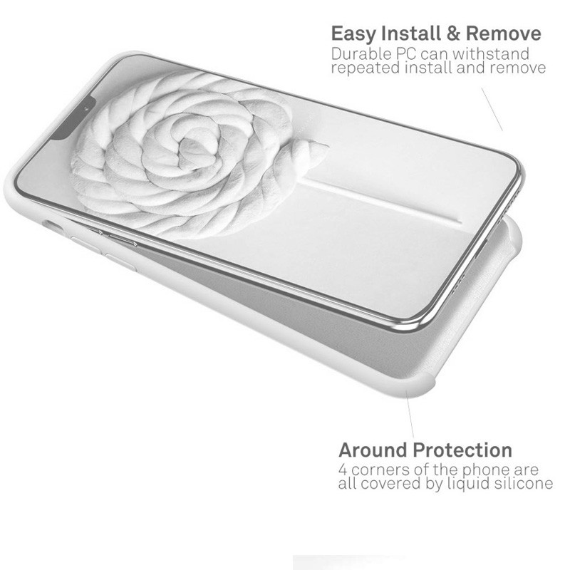 Mobiq - Liquid Siliconen Hoesje iPhone 11 Pro Max Wit - 3