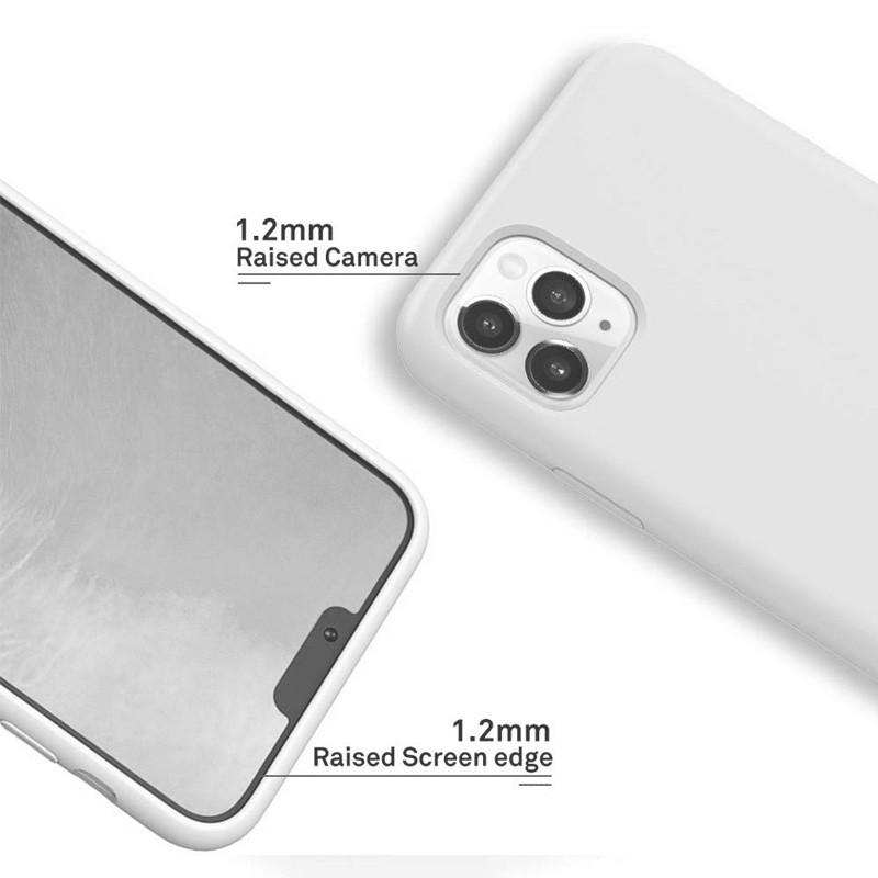 Mobiq - Liquid Siliconen Hoesje iPhone 11 Pro Max Wit - 2