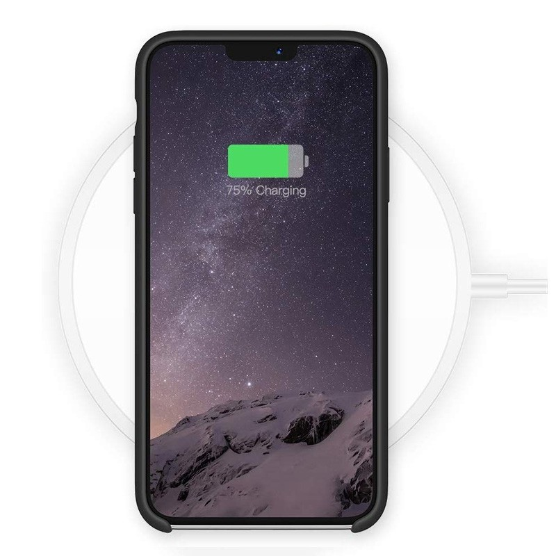 Mobiq - Liquid Siliconen Hoesje iPhone 11 Pro Max Zwart - 4