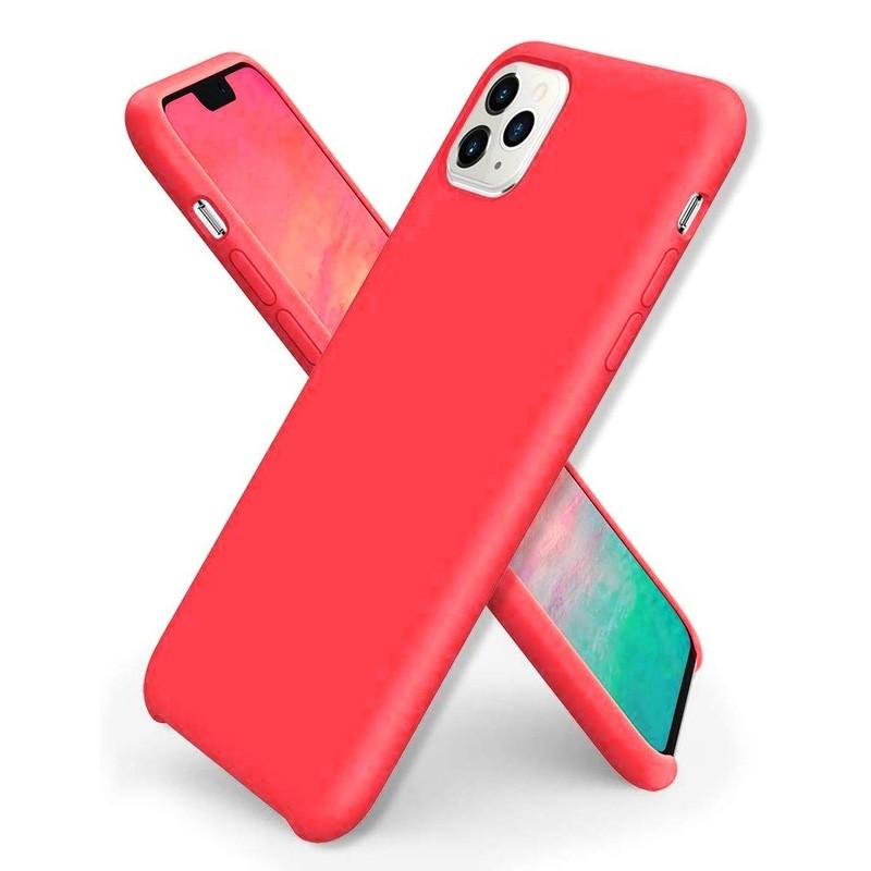 Mobiq - Liquid Siliconen Hoesje iPhone 11 Pro Rood - 1
