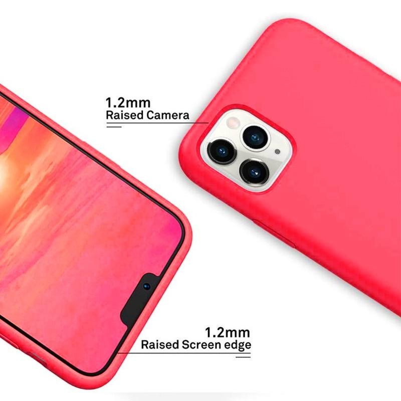 Mobiq - Liquid Siliconen Hoesje iPhone 11 Pro Rood - 4