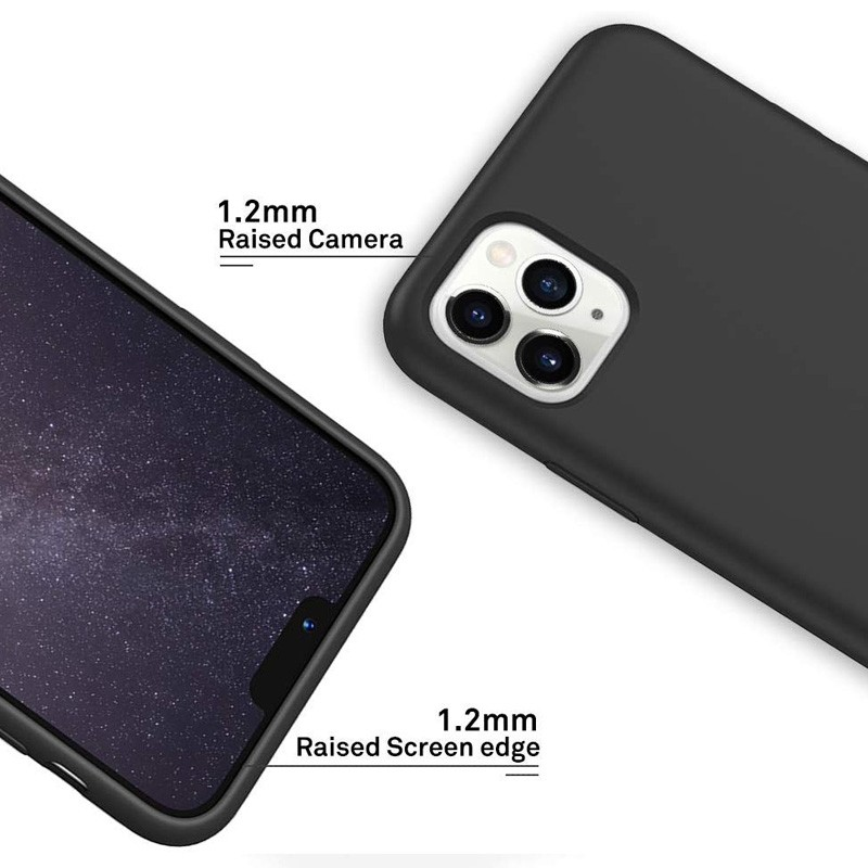 Mobiq - Liquid Siliconen Hoesje iPhone 11 Pro Zwart - 2