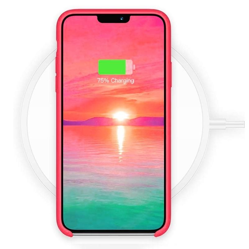 Mobiq - Liquid Siliconen Hoesje iPhone 11 Rood - 4