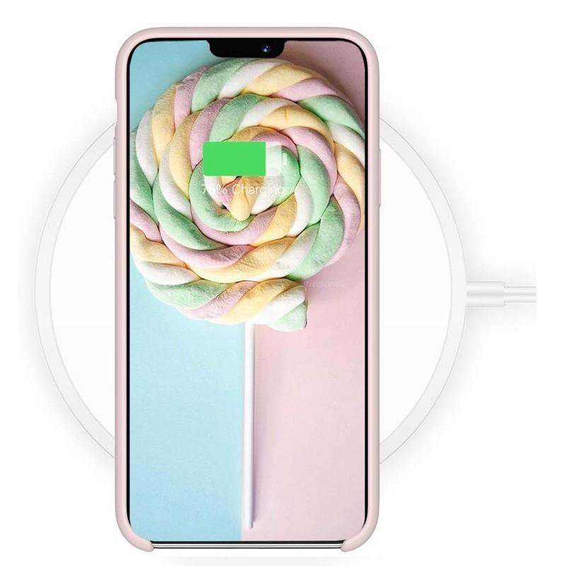 Mobiq - Liquid Siliconen Hoesje iPhone 11 Roze - 5
